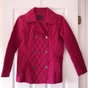 Berry Quilted Insulated Pea Coat
